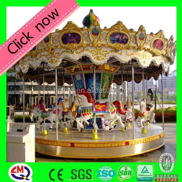 Amusement theme park rides equipment 16 rides carousel animals for sale