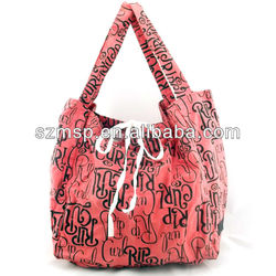 All over print canvas shopping tote bag spring season