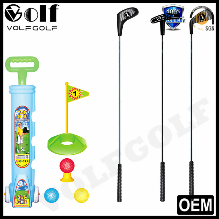 VolfGolf Mini Toy Golf Set Driver Putter Wedge Clubs Head 4 Balls Bag Hole Include Gift for Children and Kids