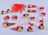 Little Girls Popular Micky Mouse Design Cartoon Hair Accessories Sets for Gift