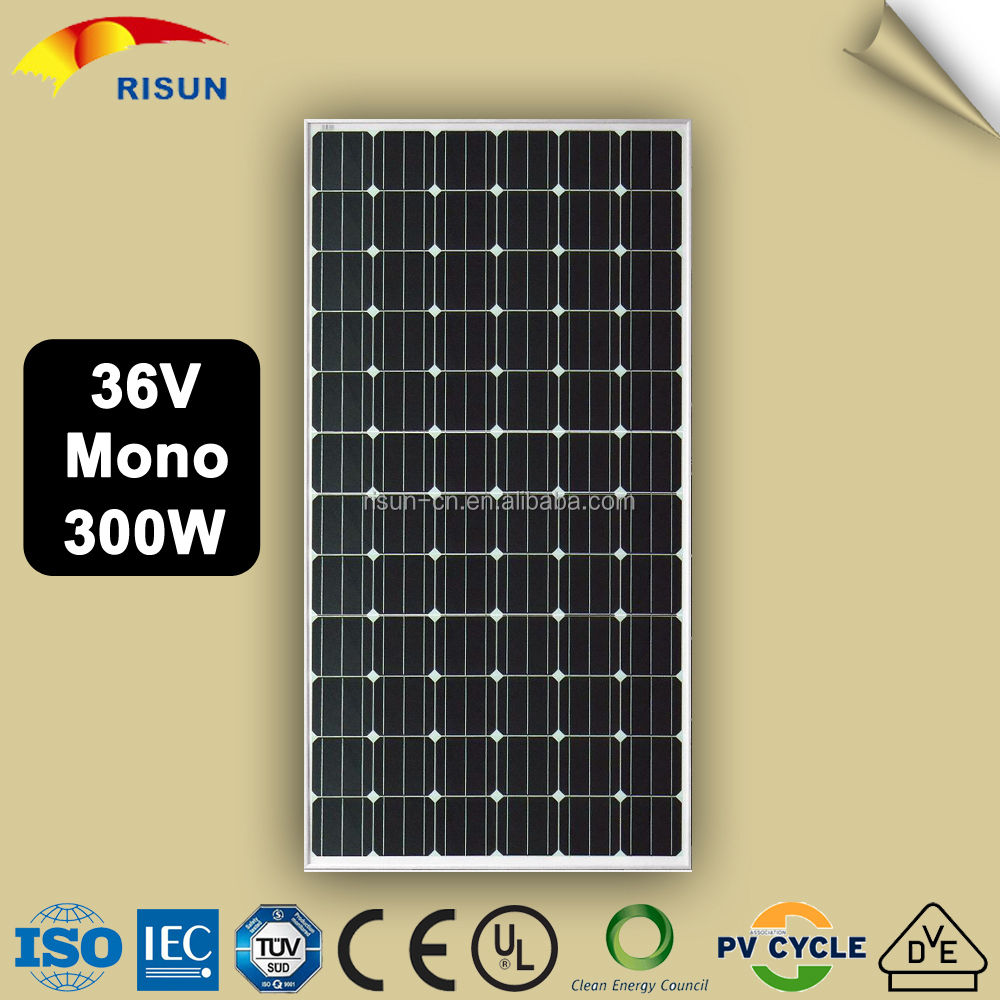 Chinese Industrial Standards CIS Solar Panel 300W Monocrystalline With 25 Years Warranty