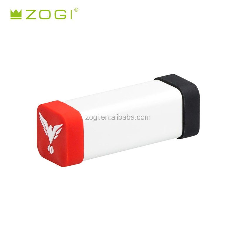 portable 4000mah ZOGI base energy square power bank with silicon cover support 2D 3D logo