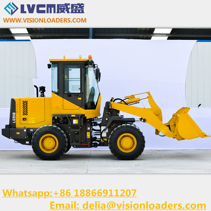 Small Garden tractor loader backhoe LG918 Mini Tractors LG918 Wheel loader with cheap price