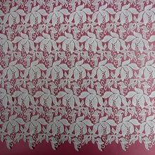 New heavy forest white chemical guipure lace fabric / cord lace for wedding dress