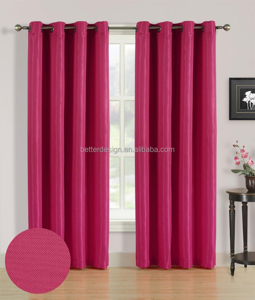 1PC Jacquard Wholesale Window Curtains For Manufactured Home With 8 Grommets