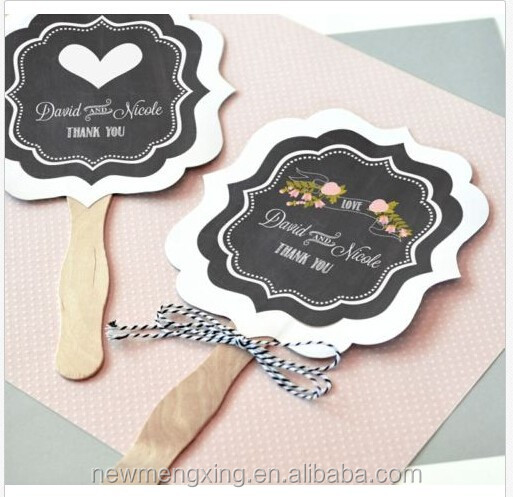 Die Cut Hand Fan Wedding Favor DIY Menu & Program