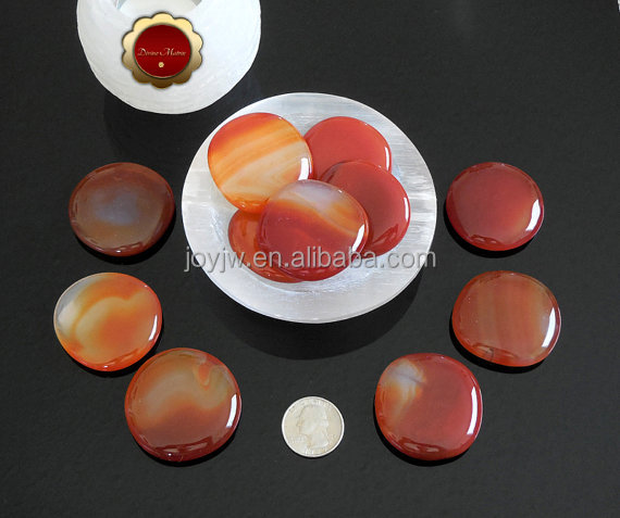 Wholesale 4*3*0.8cm Carnelian Palm Stone / Natural Red Agate worry stone