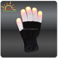 2015 New Design Party favor led finger light gloves/flashing finger ring led toy Cotton led Flashing glove Glow in the dark