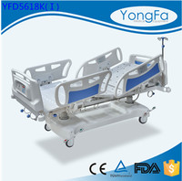 Plastic parts manufacturing center CE ISO proved hospital electric bed