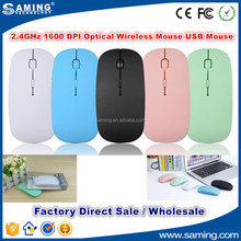 2016 Fashion 2.4Ghz USB Wireless Mouse Optical 1600DPI for Laptop Notebook PC