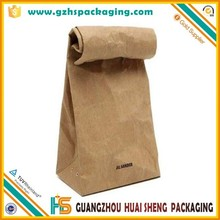 china wholesale brown kraft paper bag for food packaging