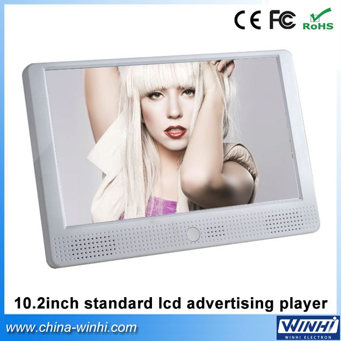 10.2 inch 12V plastic shell all in one USB SD card Auto play lcd bus video advertising player