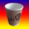 China anhui province printed white paper coffee cups