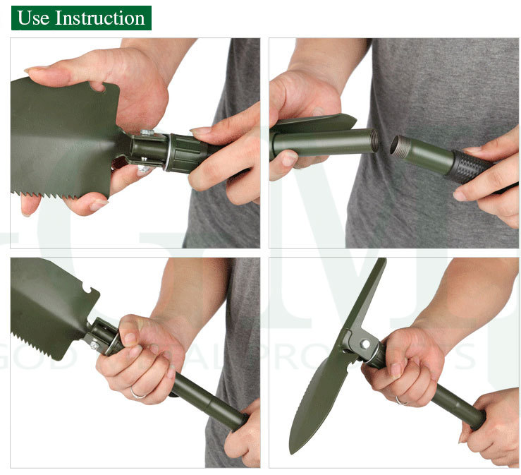 Promotion Gifts Small Mini Multifunction folding shovel with pickaxe