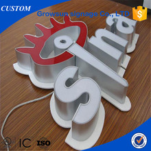 Company name brand logo sign fronlit 3d led lighted sign