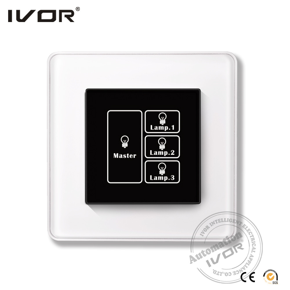 Smart home automation wifi controlled light touch screen wall switch thin touch switch light sensor electrical