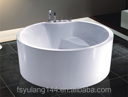 AD 713 Modern Integrated Acrylic Bath Tub Whirlpool Bathtub Round Massage Bathtub  With Seat