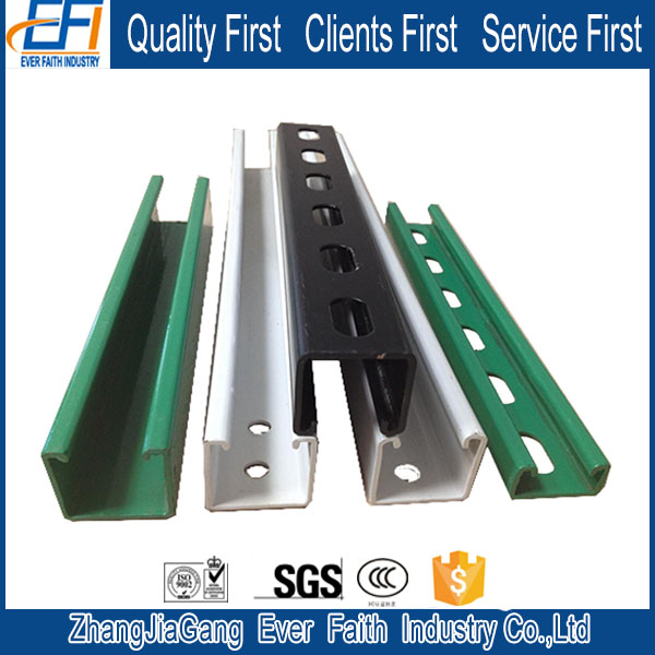 Stainless Steel Unistrut Hot Dip Heavy Duty Wall Channel