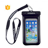 PVC waterproof tpu phone case for iPhone 8 plus with Lanyard
