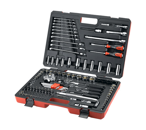 New Product 120+1pcs Metal Tool Set with Oil Filter Wrench machinery tool