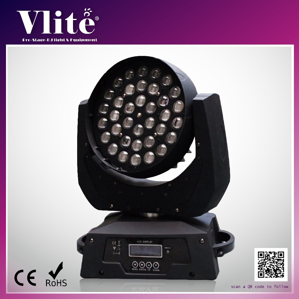 Newest RGBW 4 in 1 Stage Light Equipment LED Zoom Moving Head