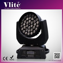 Professional RGBW 4 in 1 Stage Light Equipment LED Zoom Moving Head