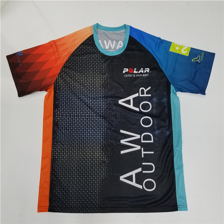 Wholesale tshirt sport professional t-shirt clothes coolmax quick dry 100 polyester sublimation running t shirt