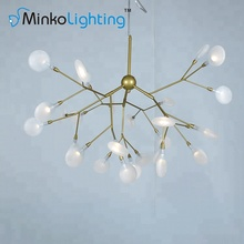 High Quality Luxury 27 Arm Decorative Iron Acrylic Pendant Lamp Led Ceiling Chandelier Modern