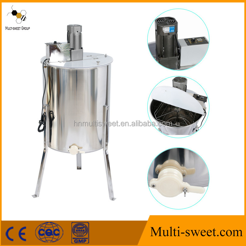 Multi-sweet honey centrifuge 4 frames electric motor honey extractor used for honey processing