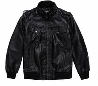 new arrival outdoor wear men jackets low price winter fashion black color luxury leather jacket
