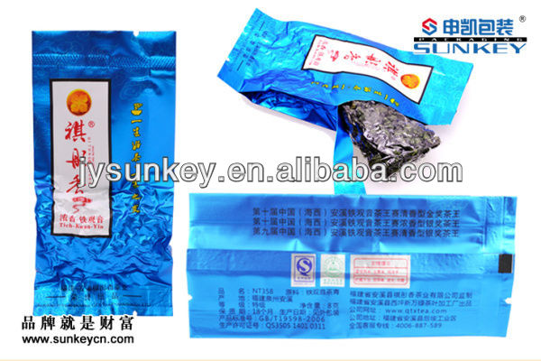 laminated material creative tea pouches plastic packaging