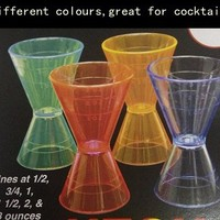 Different Colours Plastic Cup Drinking Cocktail
