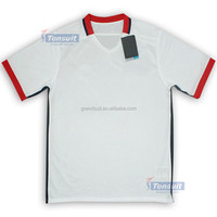 OEM heat transfer print pattern lowest price soccer jersey from China