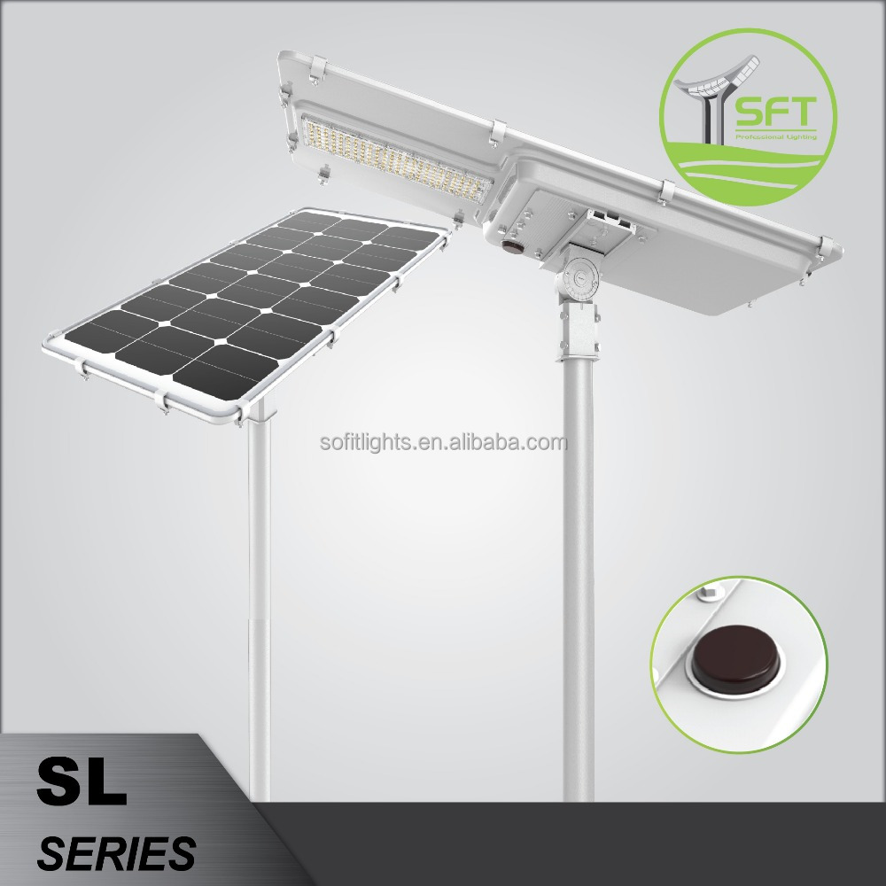Super Bright <strong>163</strong> lm/<strong>w</strong> All in one led solar PIR motion senor street light
