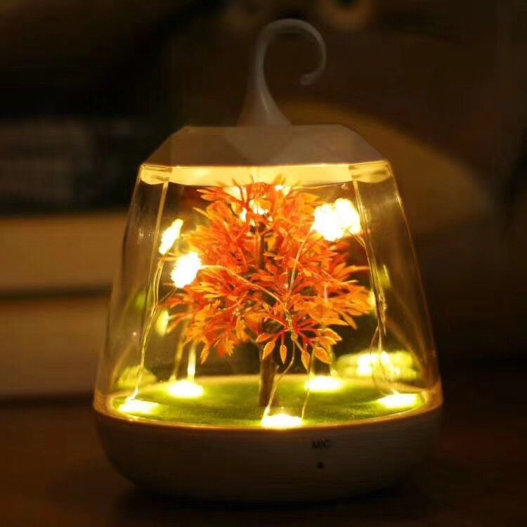New Christmas Gifts Voice Night Light LED Sensing Light Voice Bedside Table Lamp Christmas Tree Night