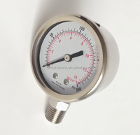045 63mm only stainless steel housing magnehelic pressure gauge