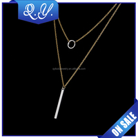 Body Chain Necklace Long Chain Necklace Artificial Gold Plated Pendant Jewelry