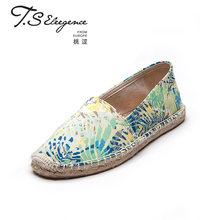 Hot Selling Good Quality Wholesale Printed Casual Flat Loafer Women Slip-on Canvas Espadrille
