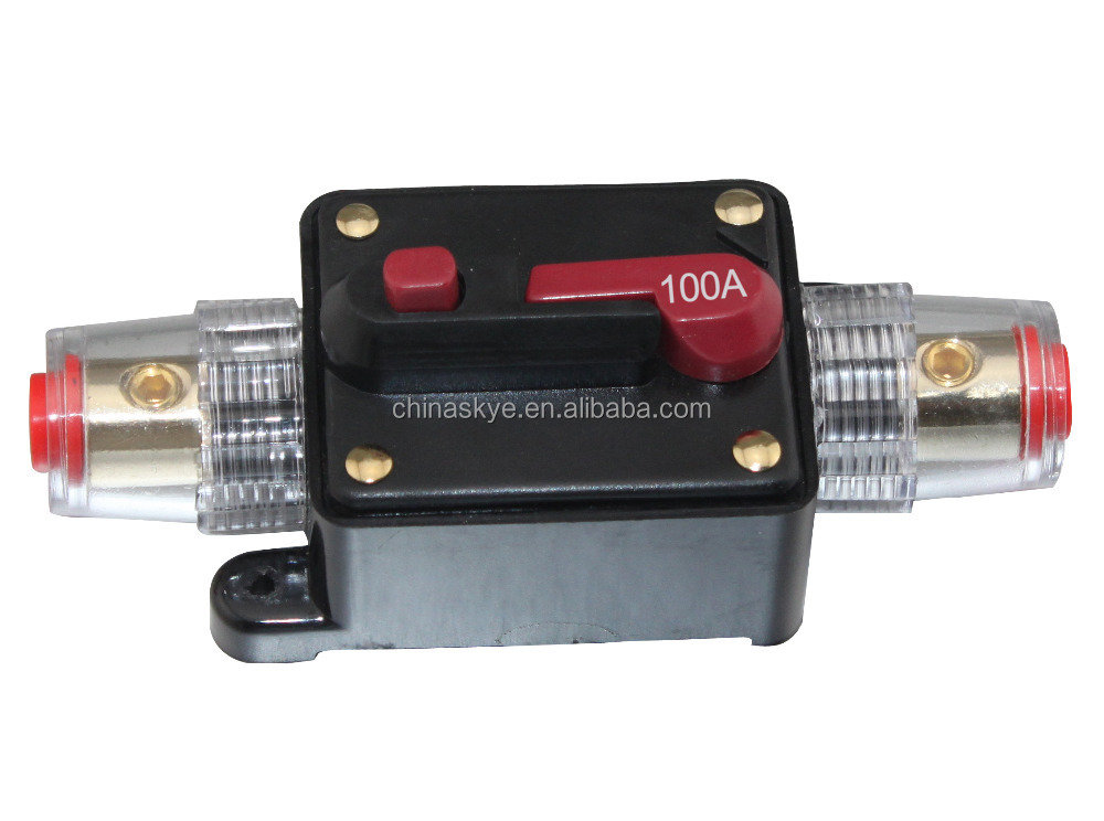 100A Car Audio Inline Circuit Breaker Fuse for 12V Protection SKCB-04-100A