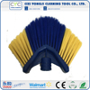 High efficiency broom brush with fan shaped ceiling brush