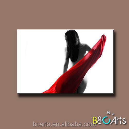 China wholesale good quality frameless sexcy photo printed on canvas for hotel decor