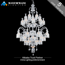 42 lights chrome crystal decoration chandelier indoor for project