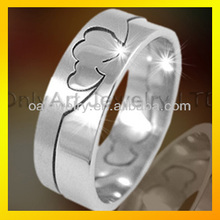 two heart together for lover stainless steel ring