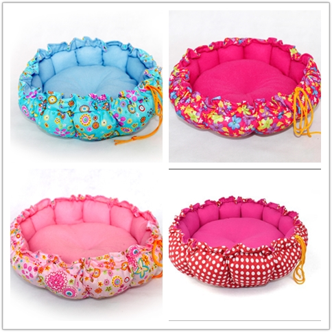 Eco-friendly round shape dog cushion covers dog beds with removable cushion pet cushion