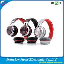 Best wireless stereo bluetooth headphone buses headphone built in mp3 sd card
