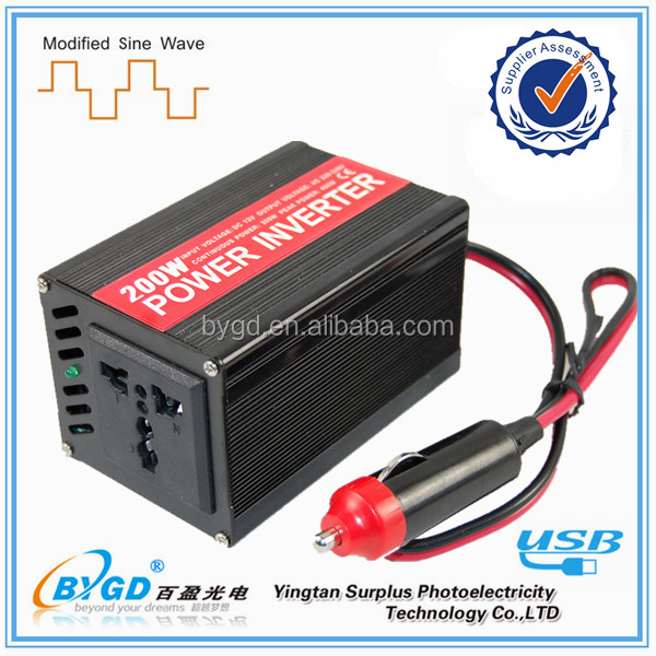 New Car Auto Power Inverter 200w 12v to 220v Converter,Charger Adapter