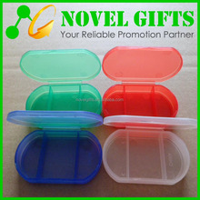 Cheap Travel Oval Shape Pill Box Organizer with 3 Compartments