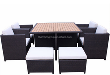 garden cube set with polywood top furniture cover