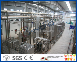 Small Pasteurized Milk Processing Plant 1000L / H Homogenizer