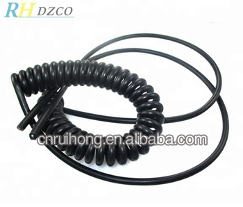Pvc black jacket spiral cable